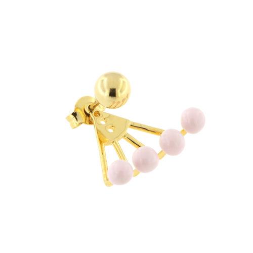 Enamel Ball Earring