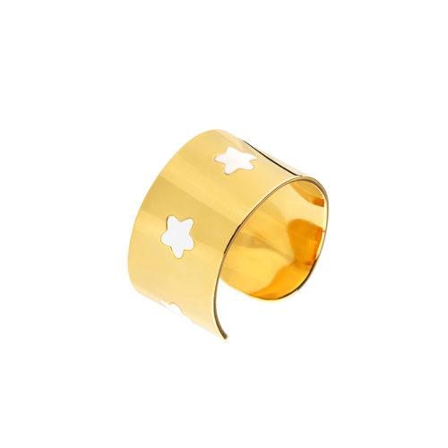 Stars Enamel Cuff Ring